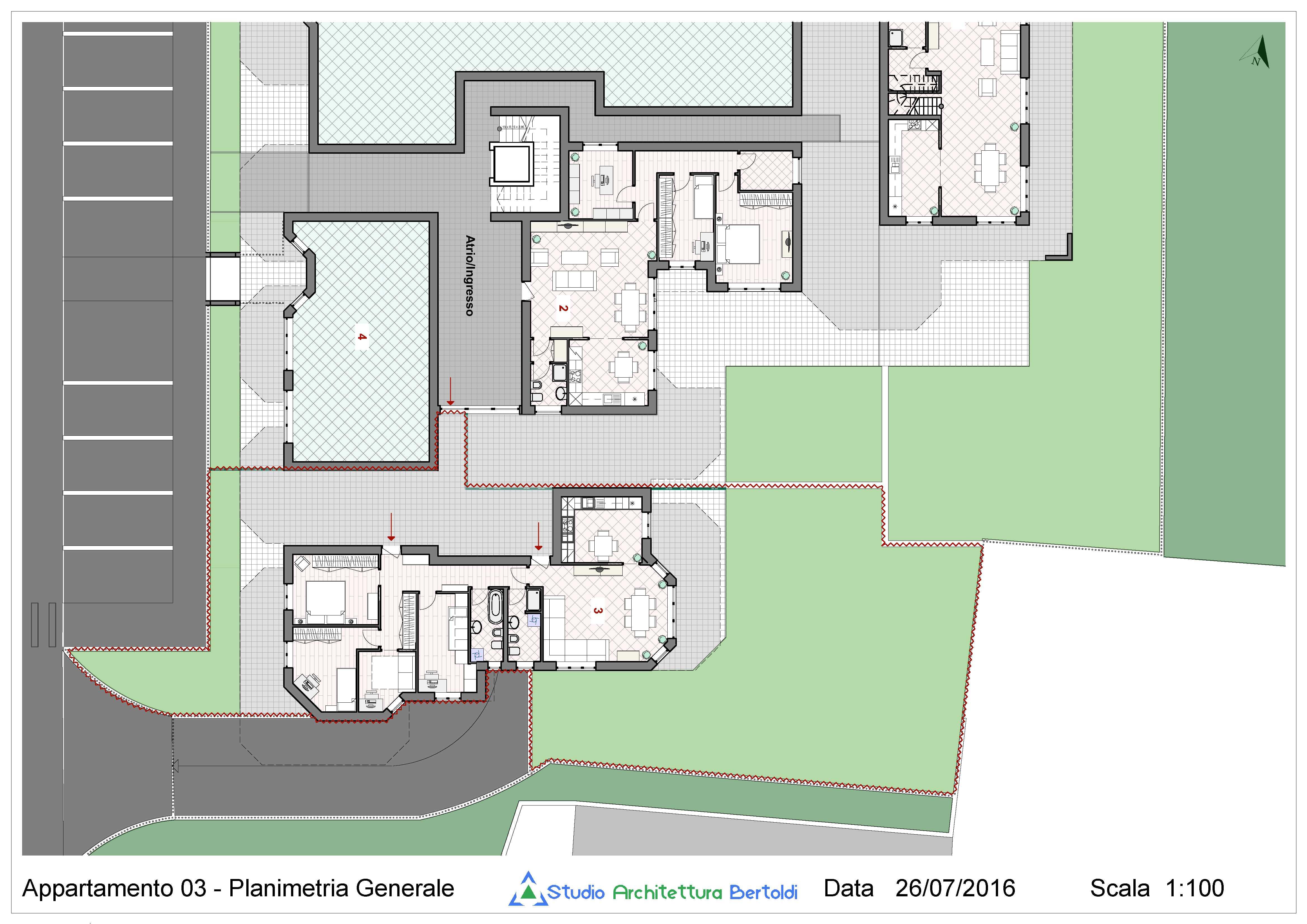 Mbd app q3pt studio architettura bertoldi for Ulteriori planimetrie